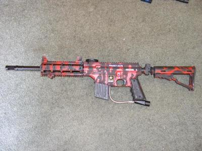 custom painted paintball guns images