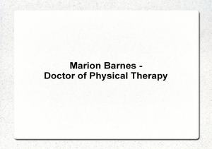 Marion_Barnes_Doctor_of_Physical_Therapy_p view on myspace.com tube online.