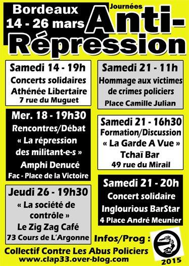 journées anti-répression - Bordeaux