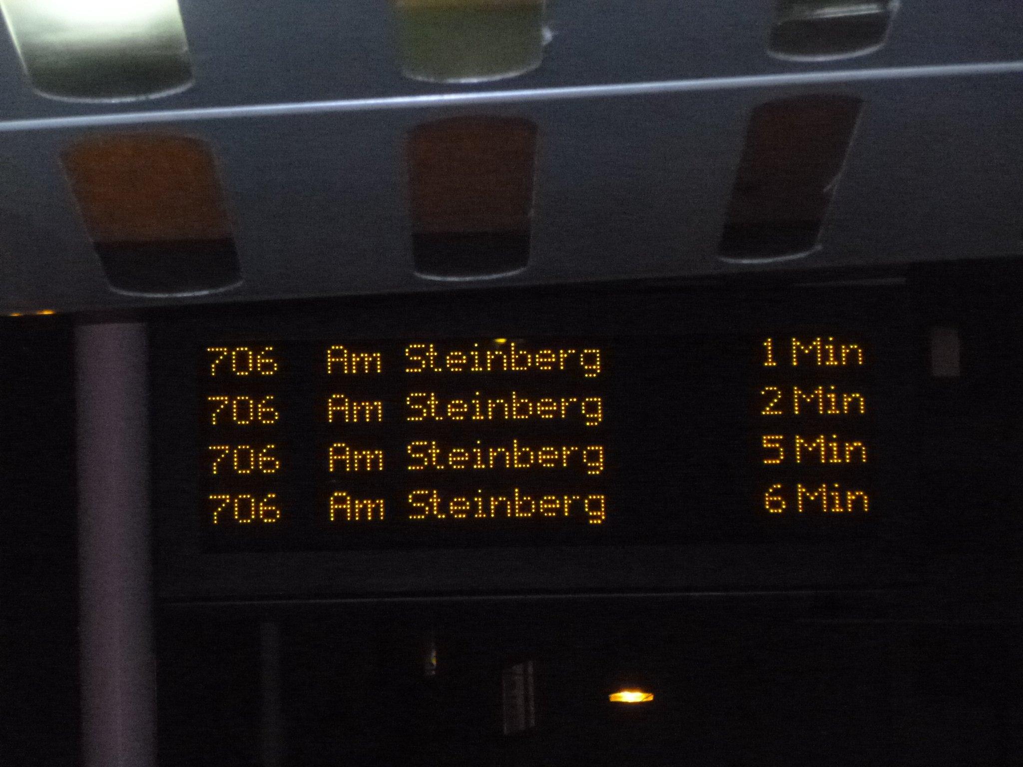 706 mit Verspätung