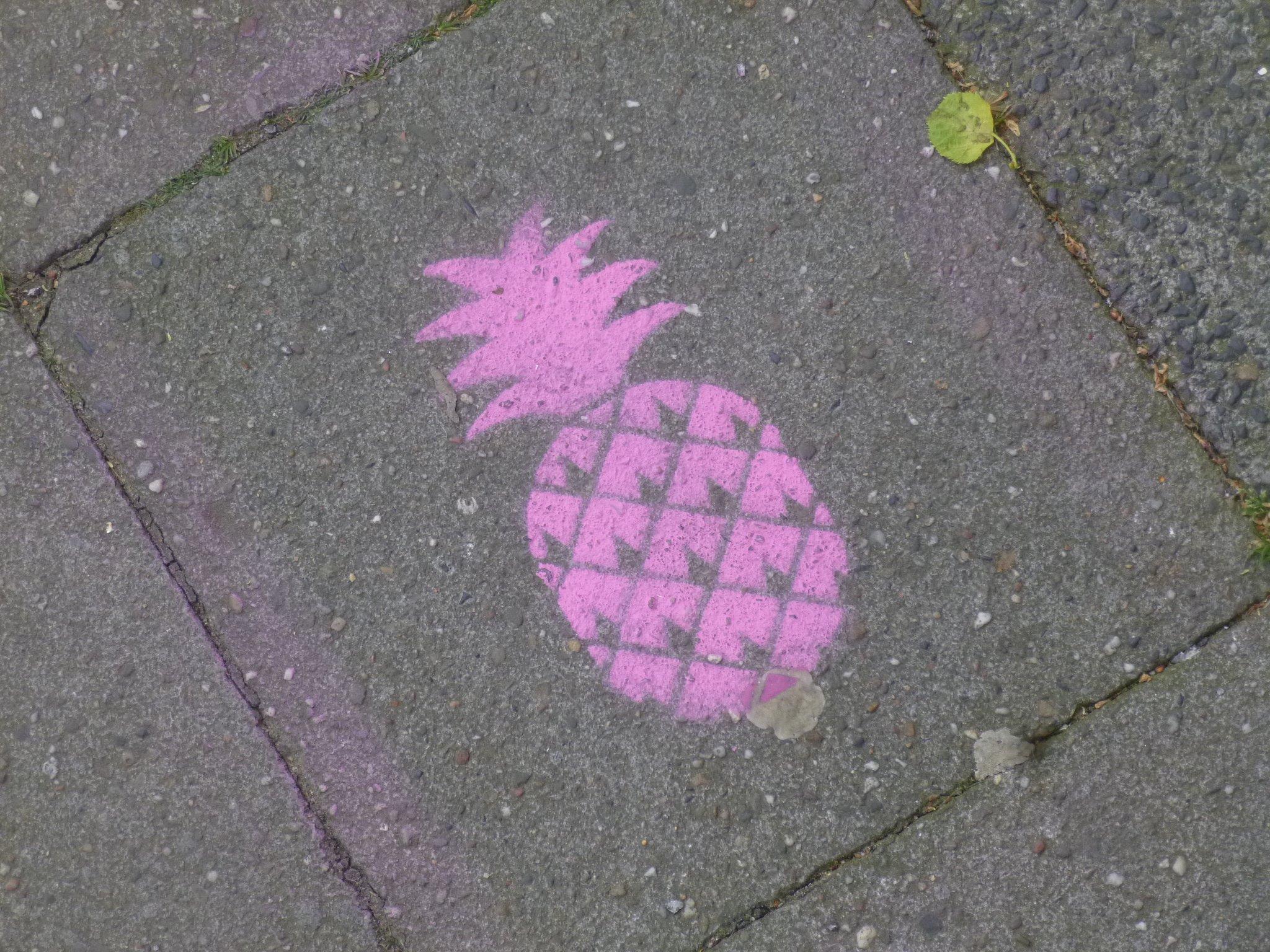 Schablonen-Ananas