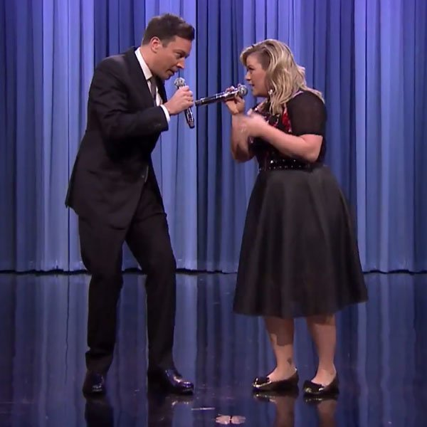 Watch Kelly Clarkson and Jimmy Fallon Perform a Medley of Duets