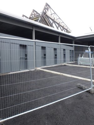 September 2016 - Turnstiles at far end of North Stand.